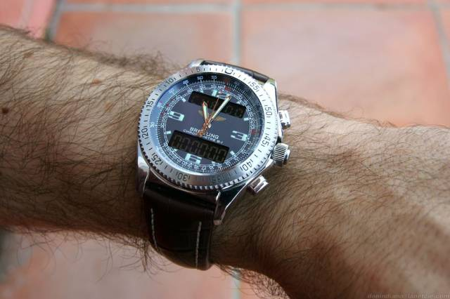 B-1 on brown strap (b-1_brown_strap_ws.jpg)
