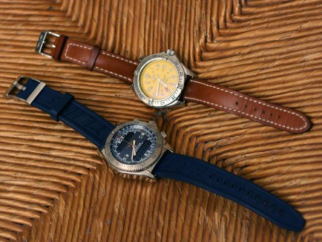 Breitling watches with strange straps (breitlings_bracelets_zarbis.jpg)
