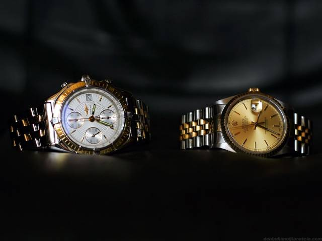Chronomat and DateJust (chronomat+datejust_in_line.jpg)