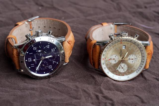 Type XX and Navitimer (type20_navitimer_ostrich.jpg)