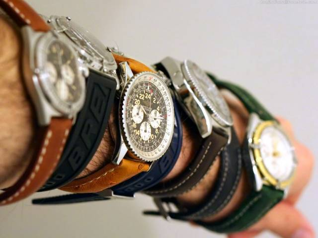 Collection of Breitlings on the wrist (wrist_7_breitlings.jpg)
